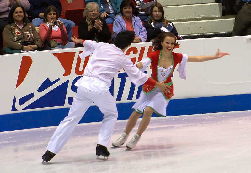 Ice dancers Anna Cappellini and Luca Lanotte, Italy (placed 2nd)