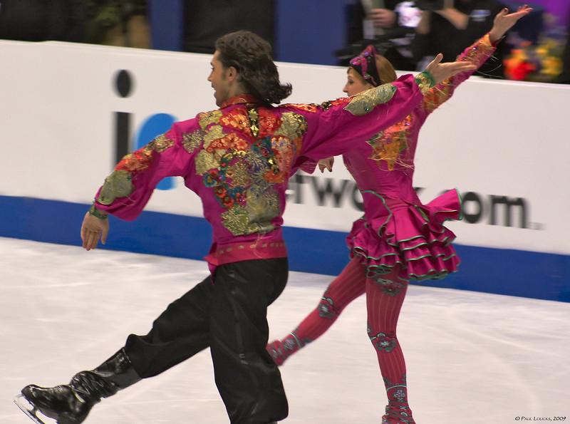 Ice dancers Jana Khokhlova and Sergei Novitski, Russia (Placed 4th)