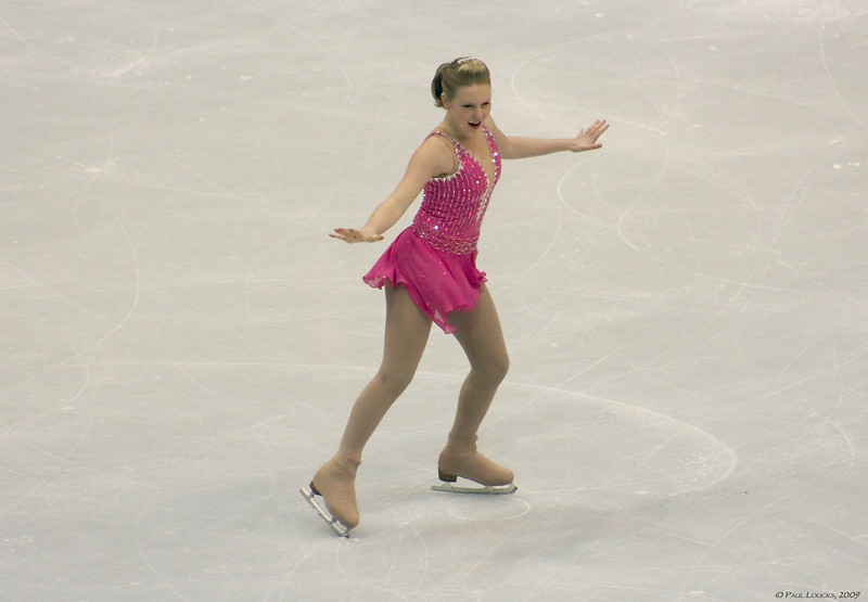 Ladies Finalist - Rachel Flatt, USA (Placed 2nd) 2008-2009 US Silver Medalist, 2008 World Junior Champion
