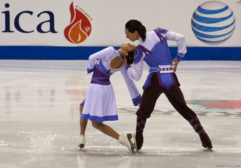 Ice dancers Xiaoyang Yu and Chen Wang, China (placed 10th)