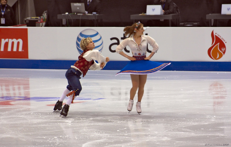 Ice dancers Caitlin Mallory and Kristian Rand, Estonia (placed 8th)