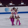 Ice dancers Kristina Gorshkova and Vitali Butikov, Russia (placed 7th)