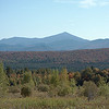 A profile of Whiteface Mountain from the west at Harrietstown.
