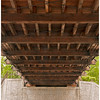 Undercarriage of Jay's covered bridge.