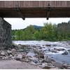 View under the bridge looking upstream.