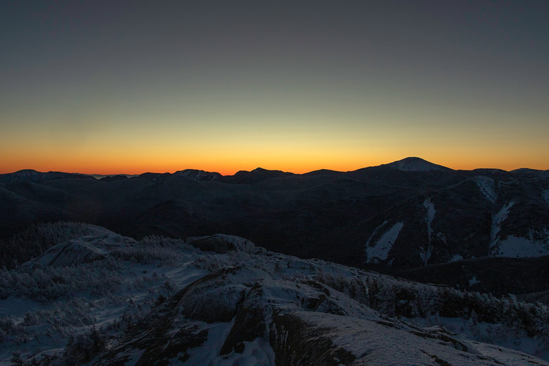Pre-dawn light over the High Peaks