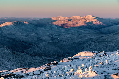 Sun rise over the Adirondack Mountains