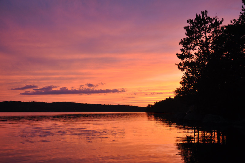 Purple Sunset on Upper Saranac Lake. 2012.