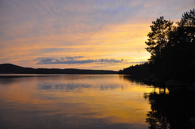 Golden Sunset on Upper Saranac Lake. 2012.