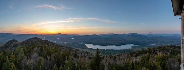 Sunset from Goodnow Mt. Panorama