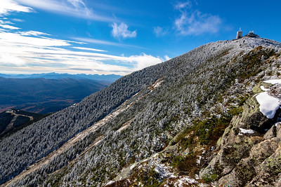 Autumn snowfall atop Whiteface Mt.