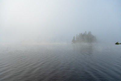 Little Tupper Lake - Foggy Morning