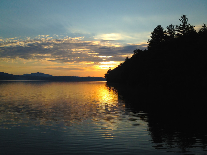 Blue Sunset on Upper Saranac Lake. 2012.