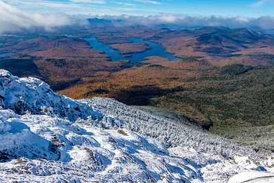 Whiteface Mt. summit looking towards Lake Placid