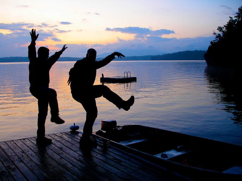 Morning Fishing Dance on Upper Saranac Lake. 2009.