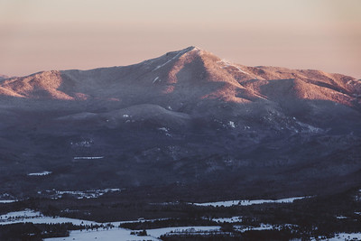 Sun rise over Whiteface Mt.