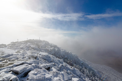 Foggy morning from Whiteface summit