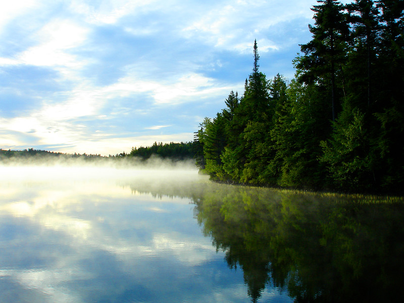 Late morning haze on Upper Saranac Lake. 2009.