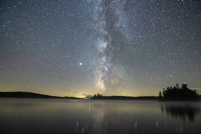 Milky Way Galaxy over Little Tupper Lake
