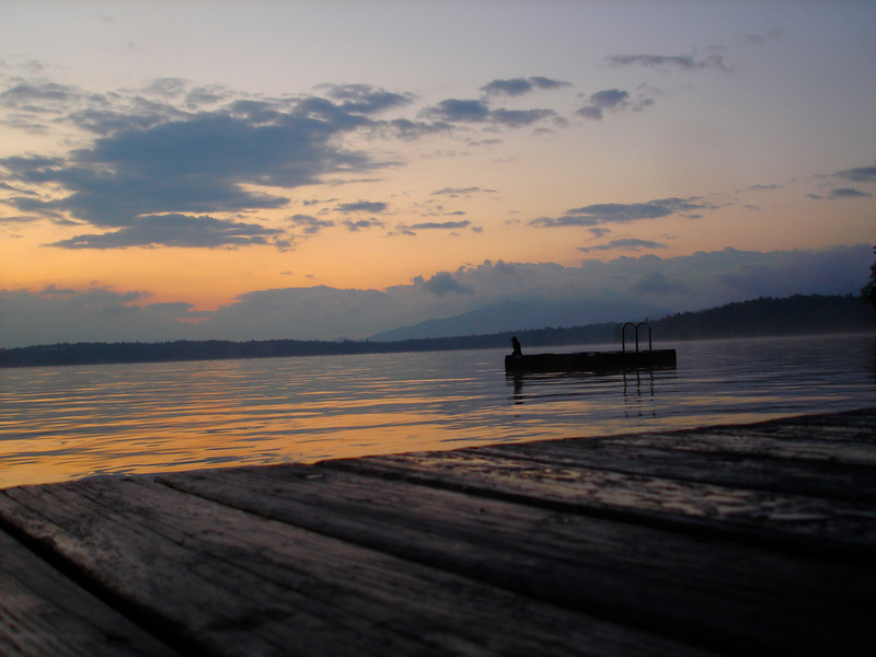 Sunrise from the Dock on Upper Saranac Lake. 2009.