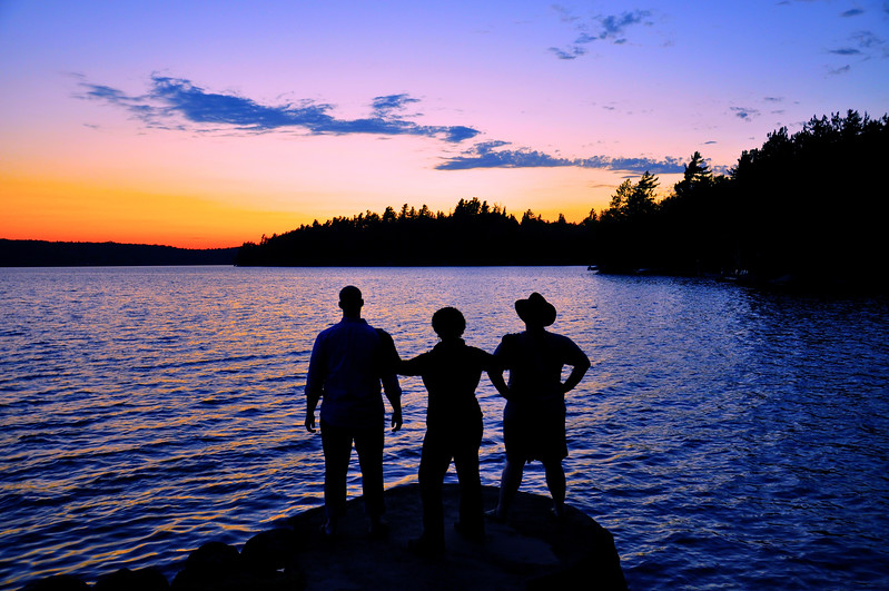 Brothers and Sister on Upper Saranac Lake. 2009.
