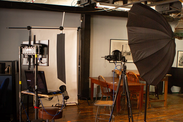 Portable setups available for on-location studio quality portraits and environmental headshots.