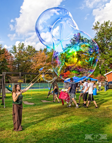 That is a giant bubble! Electric Moonshine Festival 2013 at the Sandy Valley Campground in Pennsylvania.