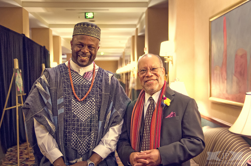 Ibiyinka Alao and Jerry Pinkney at the 2013 Governor's Awards for the Arts in Harrisburg Pennsylvania. I accompanied Ibi to supply documentation of his night for the United Nations. I met so many interesting artists including Jerry Pikney who has illustrated over a hundred books including Asaesop's Fables and The Ugly Duckling.<br /> <br />  If there was one thing I learned from these veterans of the arts; it's to never stop following your dreams, never stop creating.