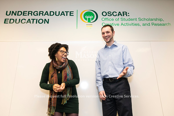 Jasmyne Rogers, Anthony DeMaio.  Photo by:  Ron Aira/Creative Services/George Mason University