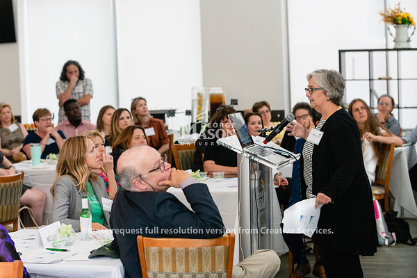 Susan Carvalho speaks to George Mason University faculty during the American Council on Education Internationalization Laboratory launch. Photo by Lathan Goumas/Office of Communications and Marketing   Photo Taken:Monday, August 19, 2019