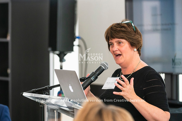 George Mason University President Anne Holton speaks at an American Council on Education Internationalization Laboratory launch. Photo by Lathan Goumas/Office of Communications and Marketing   Photo Taken:Monday, August 19, 2019