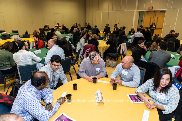 People talk during a National Science Foundation CRISP/RIPS Grantees Workshop. Photo by Lathan Goumas/Strategic Communications