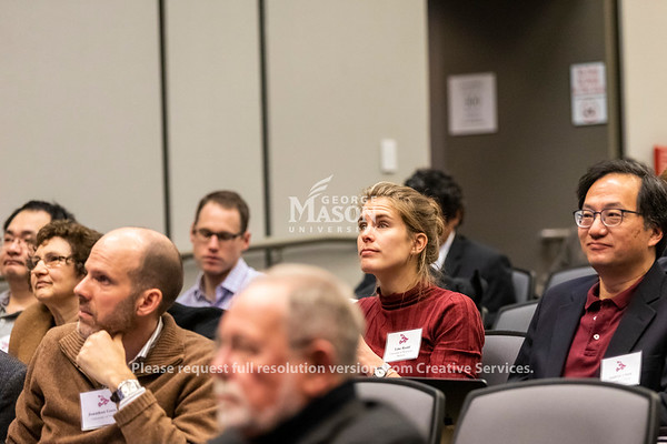 People listen during a National Science Foundation CRISP/RIPS Grantees Workshop. Photo by Lathan Goumas/Strategic Communications