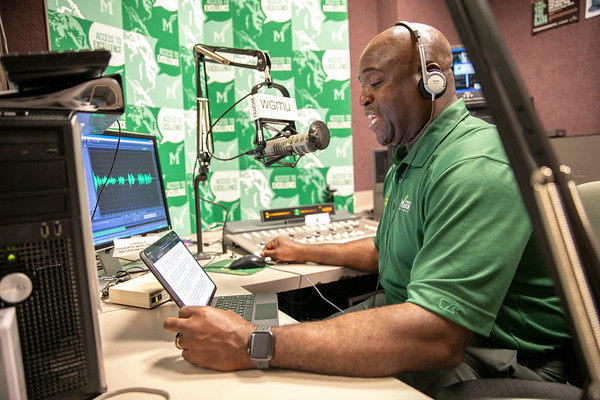 Mason President Gregory Washington interviewed professor Guadalupe Correa-Cabrera for an episode of the Access to Excellence podcast on Aug. 18, 2021. Photo by: Shelby Burgess/Strategic Communications/George Mason University