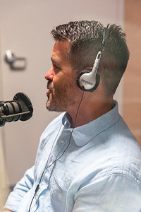 Mason President Gregory Washington interviewed professor Shane Caswell for an episode of the Access to Excellence podcast. Photo by: Shelby Burgess/Strategic Communications/George Mason University  Photo by: Shelby Burgess/Strategic Communications/George Mason University