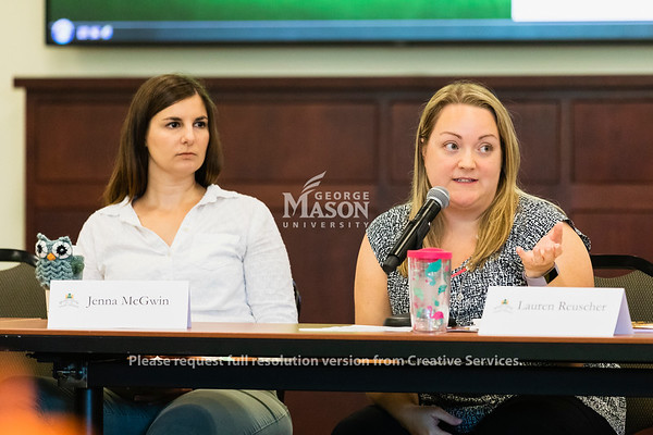 George Mason University President Anne Holton speaks to the Staff Senate. Photo by Lathan Goumas/Office of Communications and Marketing   Photo Taken:Wednesday, September 4, 2019