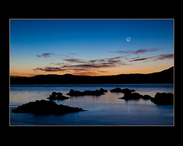 Moonrise at Mono Lake