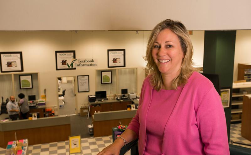 Bookstore Manager Barbara Headley. Photo by Alexis Glenn/Creative Services/George Mason University
