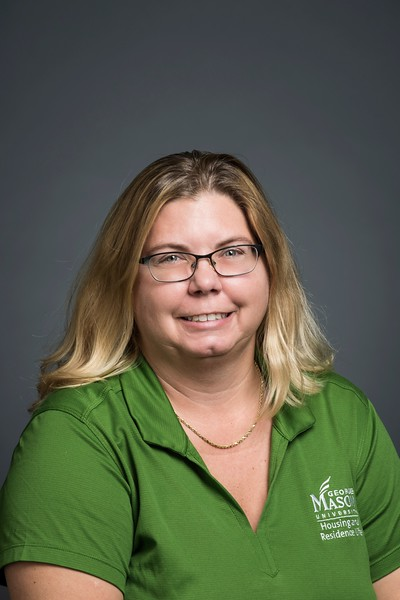Darcy Johnson, Housing Services Coordinator, Housing and Residence Life. Photo by:  Ron Aira/Creative Services/George Mason University