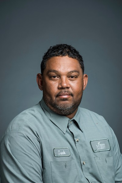 Zach Terrell, Housing Grounds Supervisor. Photo by:  Ron Aira/Creative Services/George Mason University
