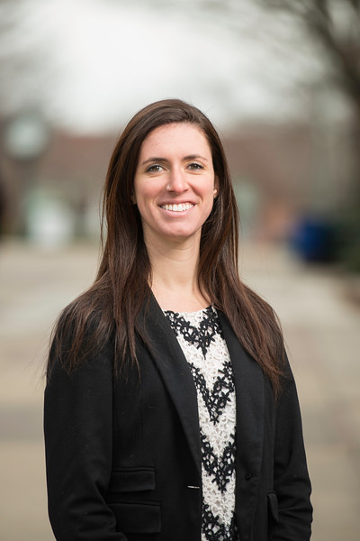 Eva Bramesco, Admissions Counselor, Office of Admissions. Photo by Ron Aira/Creative Services/George Mason University