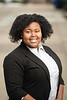 Kimberly Olodun, Admissions Counselor, Office of Admissions. Photo by Ron Aira/Creative Services/George Mason University