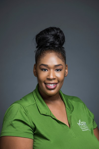 Andrina Jackson, Resident Director, Housing and Residence Life. Photo by:  Ron Aira/Creative Services/George Mason University