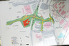 West campus map detailing proposed Campus Drive construction. Photo by Evan Cantwell/George Mason University