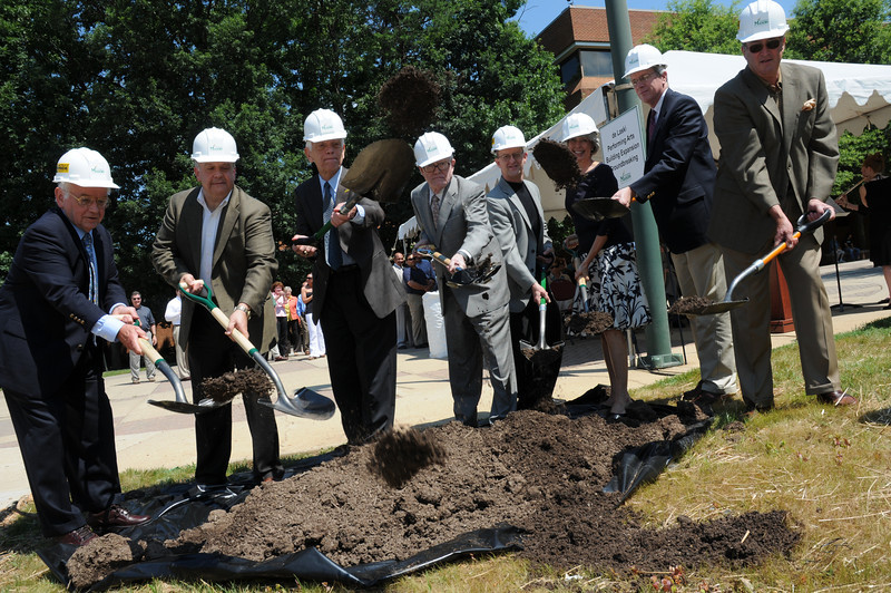 The ground-breaking ceremony for the Donald and Nancy de Laski Performaing Arts Building was held July 1, 2009.