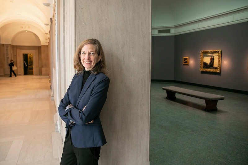 Lee Glazer, BA Art History '84, found her passion for art at George Mason University. She previously was Curator of American Art at the Freer Gallery, she is now founding director of the Lunder Institute of American Art at Colby College in Maine.  Photo by:  Ron Aira/Creative Services/George Mason University