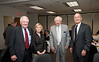 (L to R) Edwin Meese, Sally Merten, Sidney Dewberry and Rector Ernst Volgenau attend a Board of Visitors luncheon at Fairfax Campus. Photo by Alexis Glenn/Creative Services/George Mason University