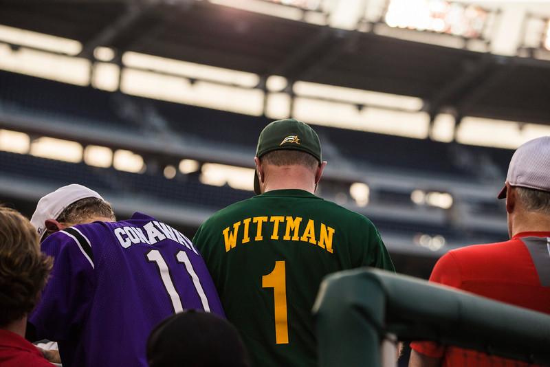 Rep. Rob Wittman, R-Va.  wears a George Mason Baseball