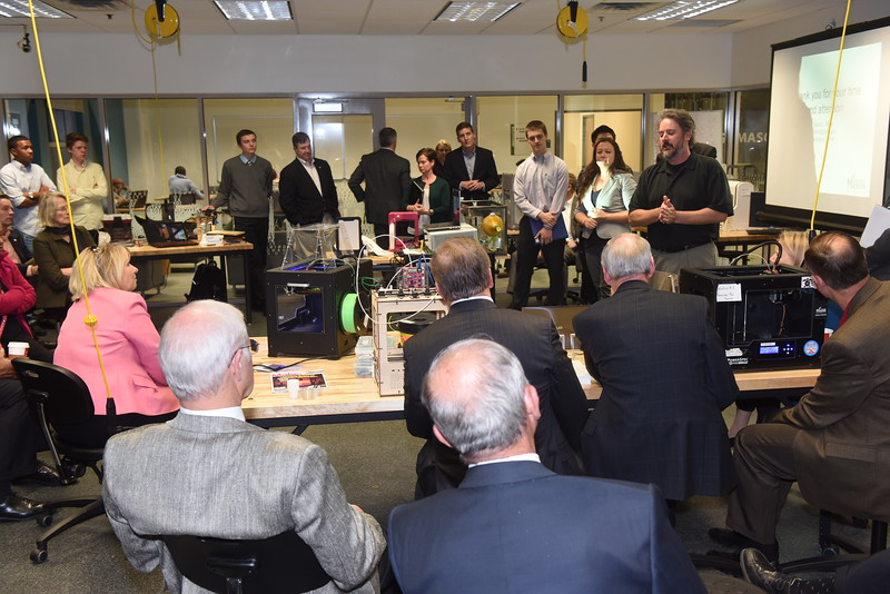 Members of the Virginia House of Delegates appropriations and finance committees tour Fairfax Campus on November 17, 2015.  Photo by Hilary Schwab<br />