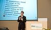 Greg Werkheiser, Managing Director of the Mason Center for Social Entrepreneurship, opens the Mason Center for Social Entrepreneurship's Accelerating Social Entrepreneurship conference at George Mason University's Arlington Campus.